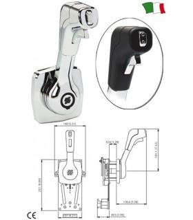 Manșă cromată cu montaj lateral și buton de trim